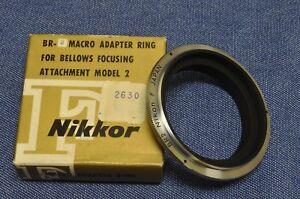 Vintage New in Box Nikon F JAPAN BR2 Closeup Reversing Ring f/PB 3 4 5 6 Bellows
