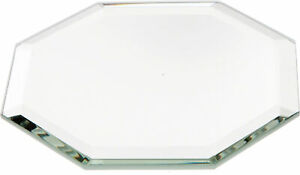 Plymor Octagon 3mm Beveled Glass Mirror, 3 inch x 3 inch (Pack of 3)