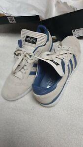 Adidas Busenitz skateboarding trainer UK 11 beige/blue Ltd edition