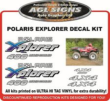 POLARIS XPLORER 400 4X4 Decal kit  1995 reproductions