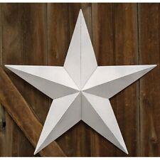 "Vintage Farmhouse White Tin Barn Star Primitive Rustic Decor  3.5"" 12"" 18"" 24"""