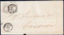 1863 - Circolare a stampa da Palermo resa franca con 2 val. da cent.1 (n.19c)