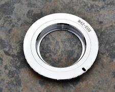 JingLu M42-EOS M42 Lens to EOS Chrome Brass Camera Adapter (#1958)