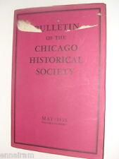 Chicago Historical Society Bulletin Vol 1 #3 May 1935 Revolutionary War Letters