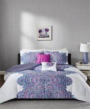 Intelligent Design Mila 5-Pc. Floral Medallion Comforter Set FULL / QUEEN Purple