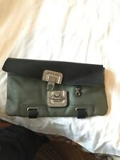 DIESEL Genuine Solid Leather AUTHENTIC Womens Punk Bag Designer Handbag Purse !!