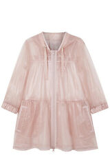 NWOT Red Valentino Sheer Glossy Nylon Tulle Parka Jacket Pink Sz 40 (small)