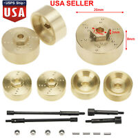 6mm Wide Axle Wheel Hub Brass Counterweights for Axial SCX24 90081 1:24 RC Car #