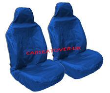 Peugeot 407 - Heavy Duty Blue Waterproof Seat Covers - 2 x Fronts