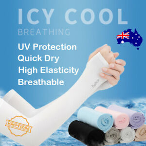 UV Sun Protection Cooling Long Arm Driving Half Finger Gloves Sleeve Sports