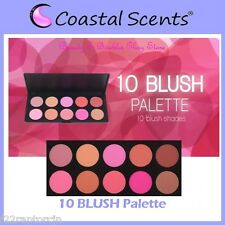 NEW Coastal Scents 10-Color BLUSH Palette w/Case FREE SHIPPING Face Powder BNIB