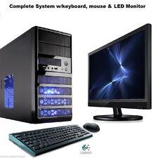 AMD Quad Core Gaming PC Computer Fast New 2TB 16GB Custom Built Desktop System