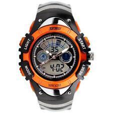 Kids Boys Girls Genuine Orange Multifunction Sports Analog Digital Wrist Watch