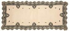 16 x 52 INCH TABLE RUNNER ECRU CLUNY LACE EMBROIDERED 100% COTTON QUALITY