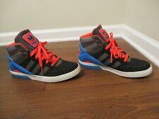 Used Worn Size 11.5 Adidas Hardcourt Block Hi Tops Basketball Shoes Multi Color