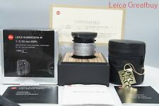 "Leica SUMMICRON-M 35mm f/2 Aspherical Lens 6 Bit Coded Boxed #4125375 ""MINT"""