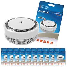 """10x Nemaxx Mini-Designer Rauchmelder """"Elegance"""" - 5 Jahre Lithium Batterie Weiß"""