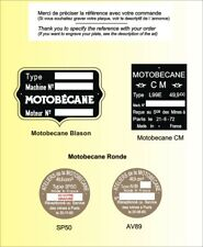 PLAQUES Constructeur Motos MOTOBECANE