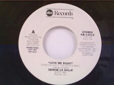 "DENISE LaSALLE ""LOVE ME RIGHT / MONO"" 45 MINT PROMO"