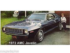 1972 AMC Javelin Auto Car Refrigerator/ Tool Box  Magnet Gift Item