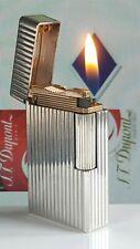 ST DuPont Lighter Silver Line 1 Large BS Functional Serviced Warranty VGC  H99