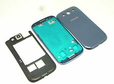 ORIGINALE Samsung Galaxy s3 SIII i9300 CUSTODIA COVER CHASSIS quadro BLU