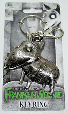 NEW Disney Burton Frankenweenie SPARKY DOG Keychain Key Ring Key Clip On METAL