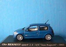 RENAULT CLIO SPORT 2.0 16V JEAN RAGNOTTI 2002 1/43 BLEU