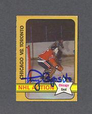 Tony Esposito signed Chicago Blackhawks 1972-73 Opc NHL Action hockey card