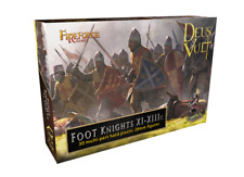 FOOT KNIGHTS XI-XIIIC - DEUS VULT - FIREFORGE GAMES - 28MM
