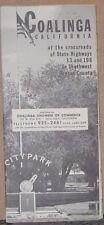 1963 Promotional Street Map of Coalinga, California by Coalinga Chamber of Com.
