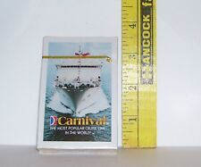 1 BRAND NEW DECK OF CARNIVAL CRUISE LINE SOUVENIR PLAYING CARDS FACTORY SEALED