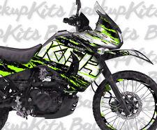 Kawasaki KLR 650 decals Super Rally GREEN stickers graphic kit 2008-2016