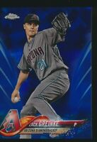 2018 Topps Chrome Sapphire Blue Refractor #507 Zack Greinke Arizona Diamondbacks
