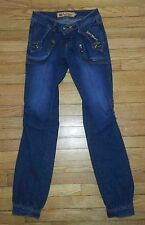 2296p Sz 7/8 28x31 Blue APPLE BOTTOMS Sweet to the Core Designer Jeans!