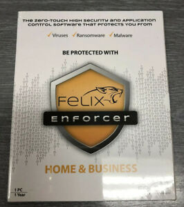 Felix Enforcer Security Software Protects Against Malware & Threats 1 user 1 yr