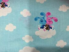 OOP Blues Clues Cloud Magenta Fabric 1/2 Yard 19 Inches