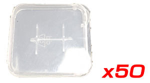 50 x Memory Card Holder Case for MICRO SD Card - Transparent plastic Storage