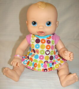 """HASBRO 2006 BABY ALIVE WET & WIGGLES DOLL 12"""" WORKS WELL"""