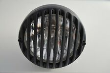 "Harley Davidson Style 6.5"" Matte Black Alloy Grille Retro Motorcycle Headlight"