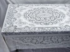 """Heirloom Quality 70"""" x 90"""" Ainsley Oblong White Lace Tablecloth"""
