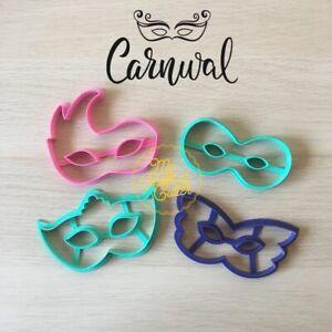 Maschere Carnevale Formine Biscotti Cookie Cutter 10cm