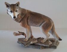 """Country Artists """"Evening Look Out"""" 02797 Wolf Figurine 9"""" x 9-1/2"""" x 6"""""""