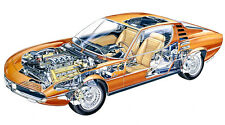 ALFA ROMEO MONTREAL CAR CUTAWAY POSTER PRINT 20x36 HIGH RES