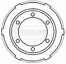 BORG BBR7187 BRAKE DRUM Rear
