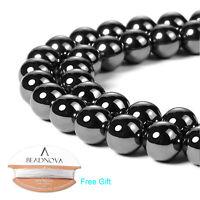 "Magnetic Hematite Gemstone Round Beads 16"" strand 2mm 4mm 6mm 8mm 10mm 12mm"