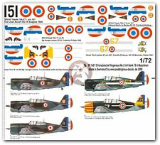 Peddinghaus 1/72 Curtiss Hawk 75A Markings French Aces WWII (5 planes) 1657