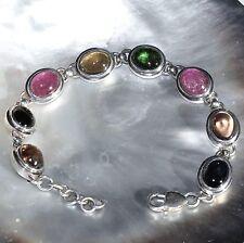 Turmalin Armband, 925er Silber, Edelstein Armband (303), Edelsteinschmuck