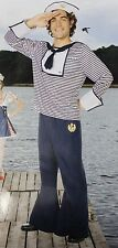 SAILOR COSTUME Adult Men's XL X-Large Navy Blue Fancy Dress Yeoman Seaman NEW