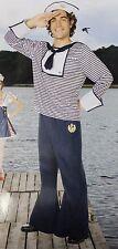 SAILOR COSTUME Adult Men's XL X-Large Navy Blue Fancy Dress Yeoman Seaman NEW